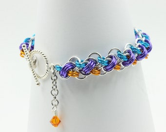 Dancing Dolphin chainmaille bracelet