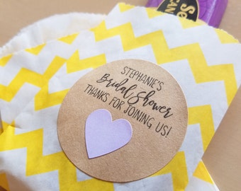 Bridal shower stickers - 20 - 2 inch circle stickers - bridal shower envelope seals