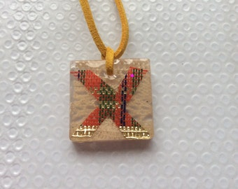 Tartan and Old Lace Pendant