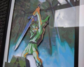 Link - Legend Of Zelda - 3D Shadow Box Art