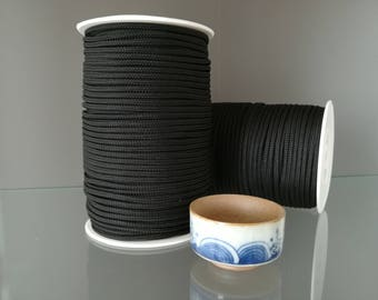 Black Polyester rope 3mm thick 100m / 109yd diy crafts jewelry rope bijoux polyester cord