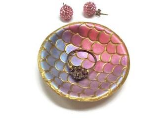 Gold Mermaid Decor, Mermaid Jewelry Dish, Christmas Gift Ideas, Trinket Dish, Mermaid Wedding Favor Mermaid Gift Idea Mermaid Ring Dish