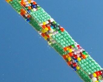 Bracelet kit Perl.0815 woven glass beads