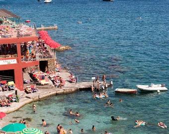 Italy Photography, Summer Beach club in Capri, Italy, beach photography, Italian home decor, Beach Art, bedroom art, beach umbrella