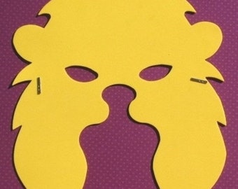 50% OFF - Brave Lion - Masquerade Mask - Serengeti Brown or Golden Yellow