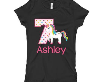 Unicorn Birthday Shirt 7th