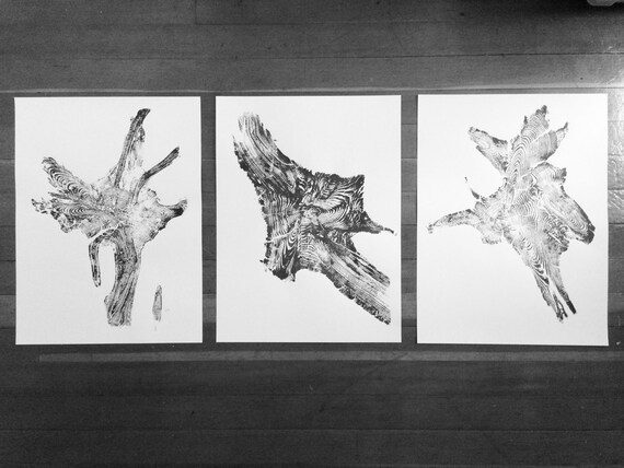 Triptych Tree Roots, Set of 3 prints, Large wall art, real tree roots, Fathers Day Art, Dad art gifts, tree root art, tree root print