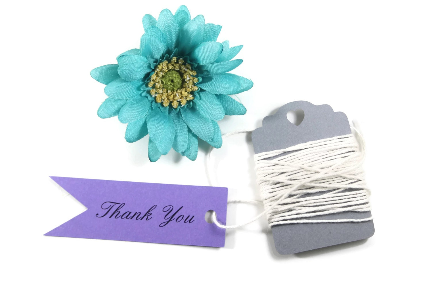 Royal Purple Wedding Flags 20pc - Purple Thank You Tags - Plum ...