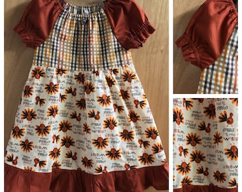 Thanksgiving Dress, Gobble Till You Wobble, size 5