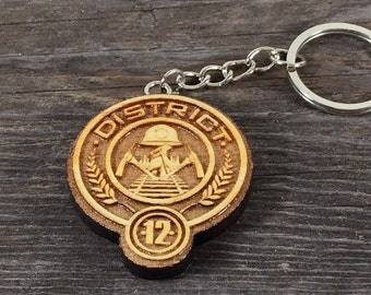 District 12 the Hunger games movies keychain