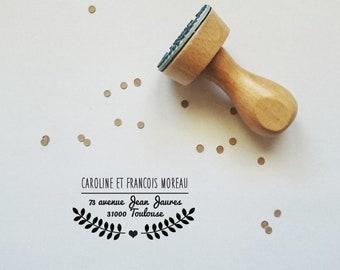 """Custom - address stamp model """"Bordeaux"""""""
