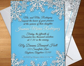 Winter party invite Etsy