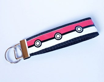 Pokemon Key Fob, Pokeball, Pokemon Go, Keychain, Wristlet