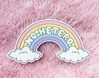 NO HETERO vinyl sticker