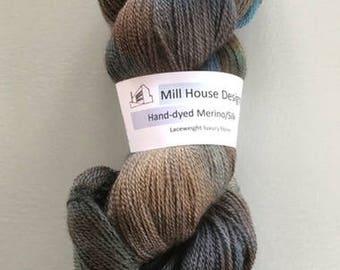 Hand-dyed Merino/silk Luxury yarn