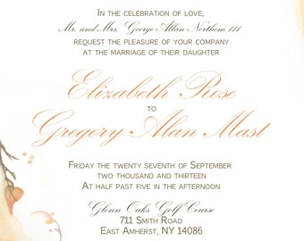 Fall, Autumn Wedding Invitation