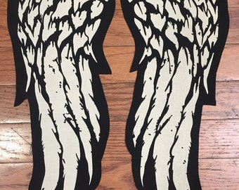 """The Walking Dead / Daryl Dixon Inspired Set of 15"""" Long Angel Wings Patches"""