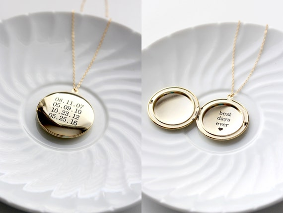 engraved pin round locket lockets gold pinterest large