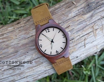 Engraved Wooden Watch, Wooden Watches, Gift for Him, Husband Gift, Boyfriend Gift, Engagement Gift, Gifts for Dad Groomsmen Gift, Groom Gift
