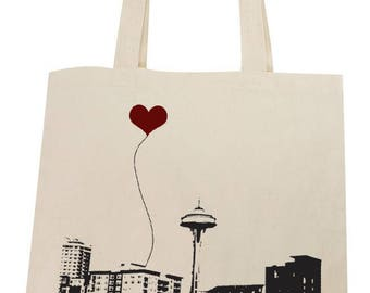Seattle Space Needle Lightweight Cotton Tote Bag