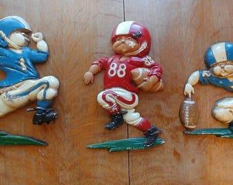 Homco metal sports figures set of 3, 1976