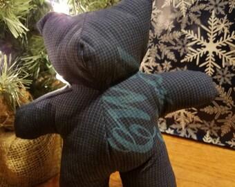 Dark Blue Cherokee Tsalagi Teddy Bear