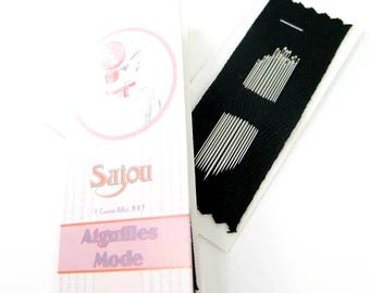 Milliner Needles | Maison Sajou Milliner Needle Booklet - 15 Needles in Assorted Sizes 3 to 9
