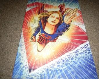 Supergirl Melissa Benoist signed poster 13x19
