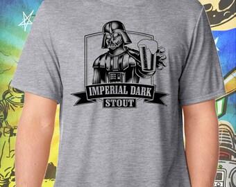 Star Wars / Darth Vader in Black / Imperial Dark Stout / Men's Gray Performance T-Shirt