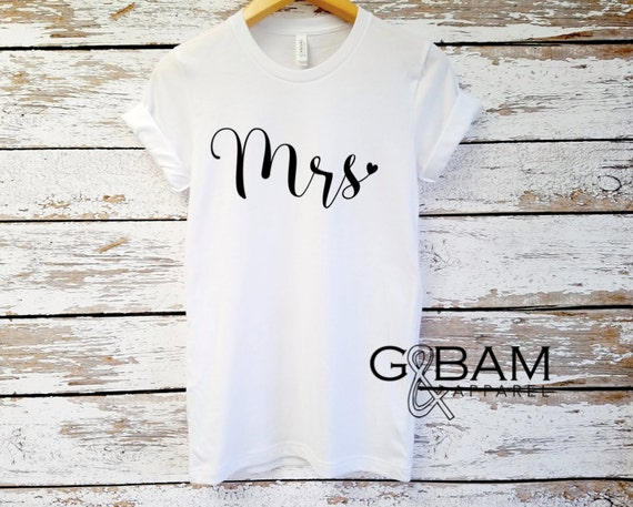 Mrs. Shirt / Boyfriend fit shirt /  Bride Shirt / Wife shirt