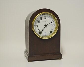 Antique Seth Thomas Beehive Shelf Mantel Chime Clock with Key