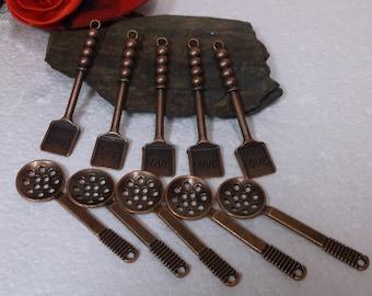 10 Antiqued Copper Kitchen Pendants