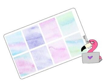 Watercolour Full Box - Planner Stickers