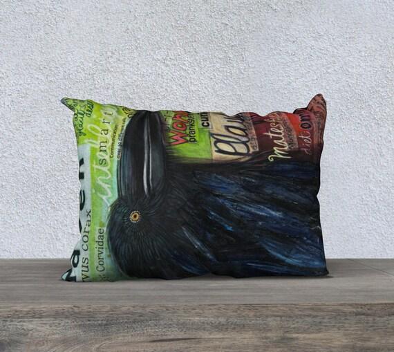 Canadian Inspired Home Decor Canada Pillow Via Etsy: Raven Throw Pillow Decorative Cushion Cover Home Decor