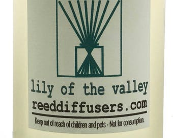 8 oz Lily of the Valley Fragrance Reed Diffuser Oil Refill with reeds- Made in the USA