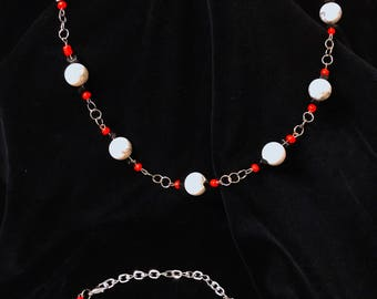 Black and Red Beads