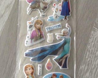 1 embroidery sheet decal elsa anna frozen