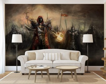 Secret battle wall decal, wall covering, temporary wallpaper, photo wallpaper, wall art