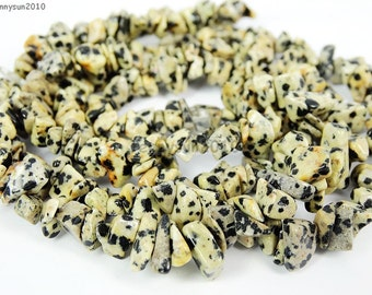 Natural Dalmatian Spot Gemstone 5-8mm Freeformed Chip Beads 35''  Great For Jewelry Design