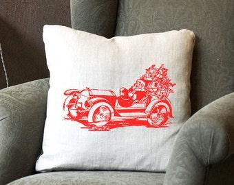 Santa~Merry Christmas~Happy Holidays~Decorative Pillow~Pillow Cover~Pillow~Home Decor
