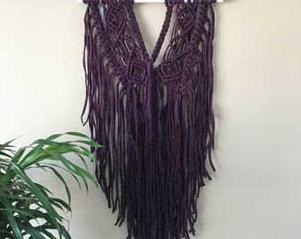 Purple Macrame Wall Hanging