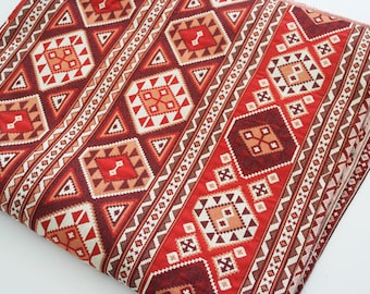 Traditional, Ethnic Tribal Style Upholstery Fabric,Cotton Woven Fabric,Tapestry Fabric,Aztec Navajo Geometric Kilim Fabric
