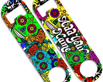 Sugar Skulls - CUSTOMIZABLE Skinny Mini Bottle Opener