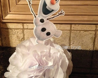 Snowman centerpiece DIY KIT