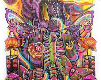 Cosmic Being  - Original Framed Painting