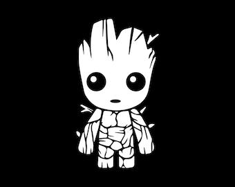 Baby Groot Die Cut Vinyl Decal