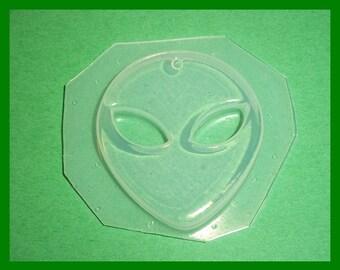 Alien Head Flexible Plastic Resin Mold