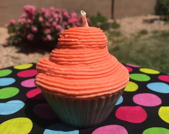 Pink Watermelon Cupcake Candle