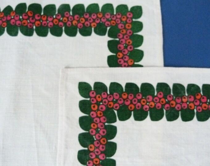 Vintage 1960's Danish Linen  place mats