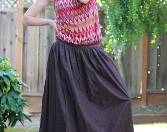 Double-sided Maxi Long Cotton Wide Skirt